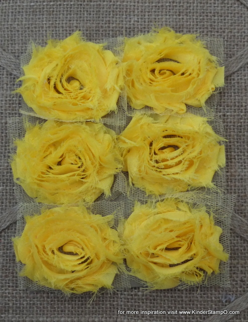 Six Shabby Chic Flowers - Sunshine (Yellow)