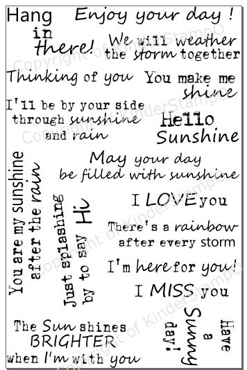 KinderStampO Photopolymer Stamp Set - Through Sunshine and Rain